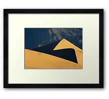 Dune and Mountains Framed Print