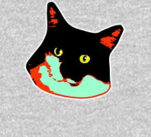 Electric Tuxie Face, Orange/Teal Unisex T-Shirt