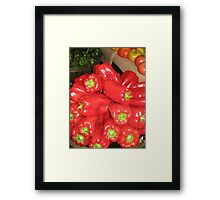 Red Peppers Framed Print