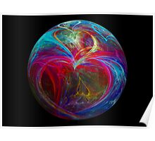 Colorful Hearted Sphere Poster