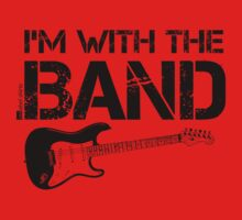 I'm With The Band - Electric Guitar (Black Lettering) Kids Clothes