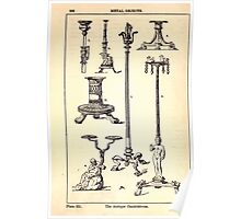A Handbook Of Ornament With Three Hundred Plates Franz Sales Meyer 1896 0378 Metal Objects Antique Candelabrum Poster