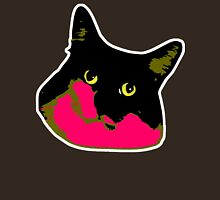 Electric Tuxie Face, Pink/Olive Unisex T-Shirt