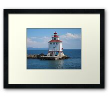Thunder Bay Lighthouse Framed Print