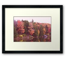 Autumn At Parker Dam Framed Print