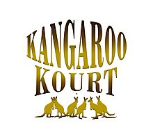 Congregate In A Kangaroo Court Photographic Print