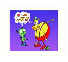 Heffer and Gir in Food Heaven Art Print