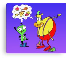 Heffer and Gir in Food Heaven Canvas Print