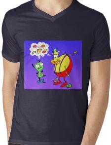 Heffer and Gir in Food Heaven Mens V-Neck T-Shirt