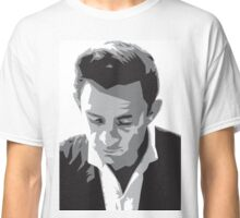 Grayscale Johnny Cash Classic T-Shirt