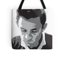 Grayscale Johnny Cash Tote Bag