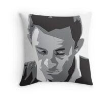 Grayscale Johnny Cash Throw Pillow