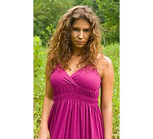 Purple dress Photographic Print