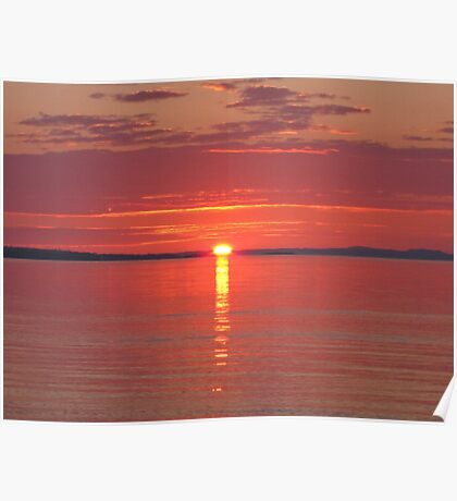 Lake Superior Sun Rise Poster