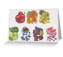 Fruits & Veggies  Greeting Card