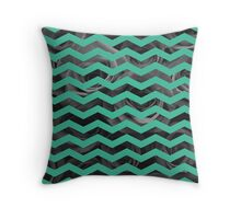 Geometric vs Natural - teal Throw Pillow