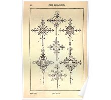 A Handbook Of Ornament With Three Hundred Plates Franz Sales Meyer 1896 0190 Free Ornaments Cross Poster