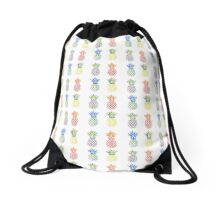 Fun coloured pineapples Drawstring Bag