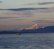 Mount Baker and the Fishing Boat by Magnum1975