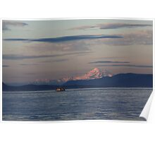 Mount Baker and the Fishing Boat Poster