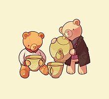two two one teddybear by butterbear