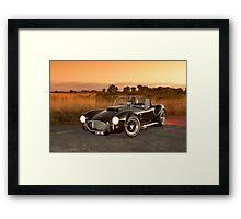 Black 1965 Shelby Cobra 427 Replica Framed Print