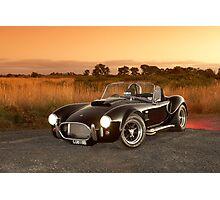 Black 1965 Shelby Cobra 427 Replica Photographic Print
