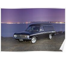 Black Holden HR Panel Van Poster