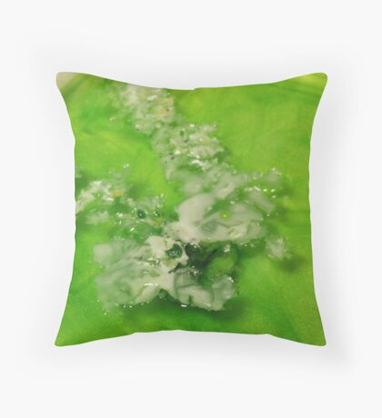 Wax on Water Throw Pillow
