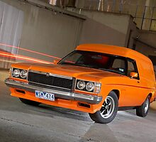 Orange Holden Sandman Panel Van by John Jovic