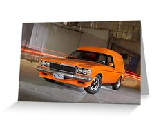 Orange Holden Sandman Panel Van Greeting Card