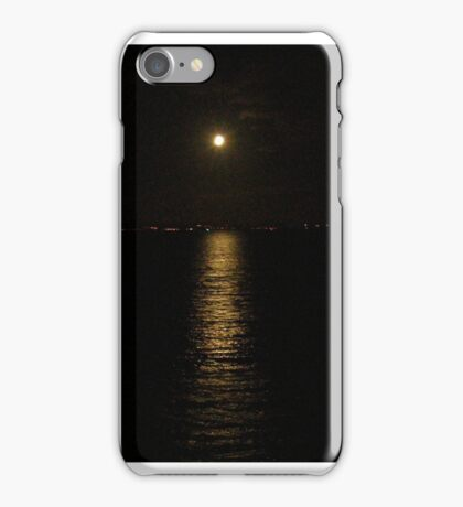 Moon over River Foyle Redcastle Donegal Ireland  iPhone Case/Skin