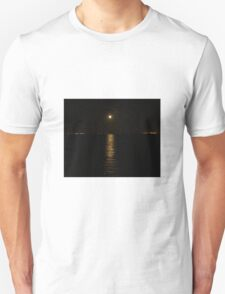 Moon over River Foyle Redcastle Donegal Ireland  T-Shirt