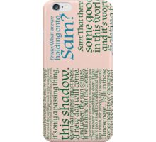 The Two Towers-- Sam's Speech iPhone Case/Skin