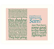 The Two Towers-- Sam's Speech Art Print