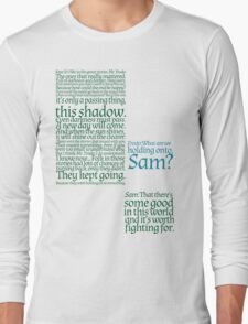The Two Towers-- Sam's Speech Long Sleeve T-Shirt