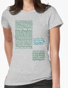 The Two Towers-- Sam's Speech Womens Fitted T-Shirt