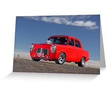 Red 1955 Ford Prefect Greeting Card