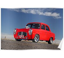 Red 1955 Ford Prefect Poster