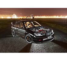 Black Subaru WRX Photographic Print