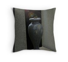 cemetary vase Throw Pillow