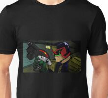 Judge Dredd and his Lawgiver Unisex T-Shirt