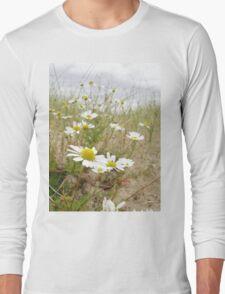 White n Yellow Lisfannon beach County Donegal Ireland Long Sleeve T-Shirt
