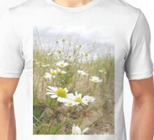 White n Yellow Lisfannon beach County Donegal Ireland Unisex T-Shirt