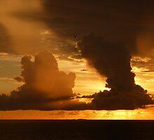 sunset at the marietas Islands - puesta del sol en las islas marietas  by Bernhard Matejka