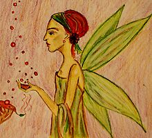Frida Kahlo with Wings by lilynoelle