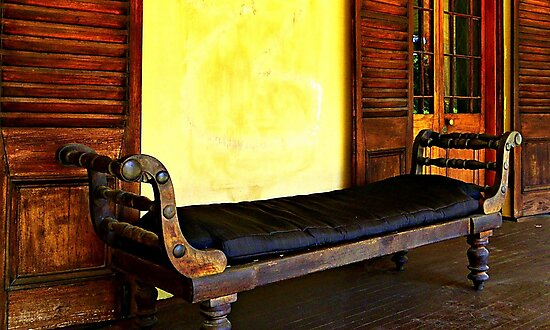 Old Leather Recliner by Rinaldo Di Battista