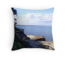 Table Rock, Beaumaris Bay  - Victoria - Australia Throw Pillow