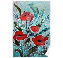 Summer poppies Poster