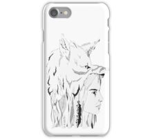 Woman and Wolf iPhone Case/Skin